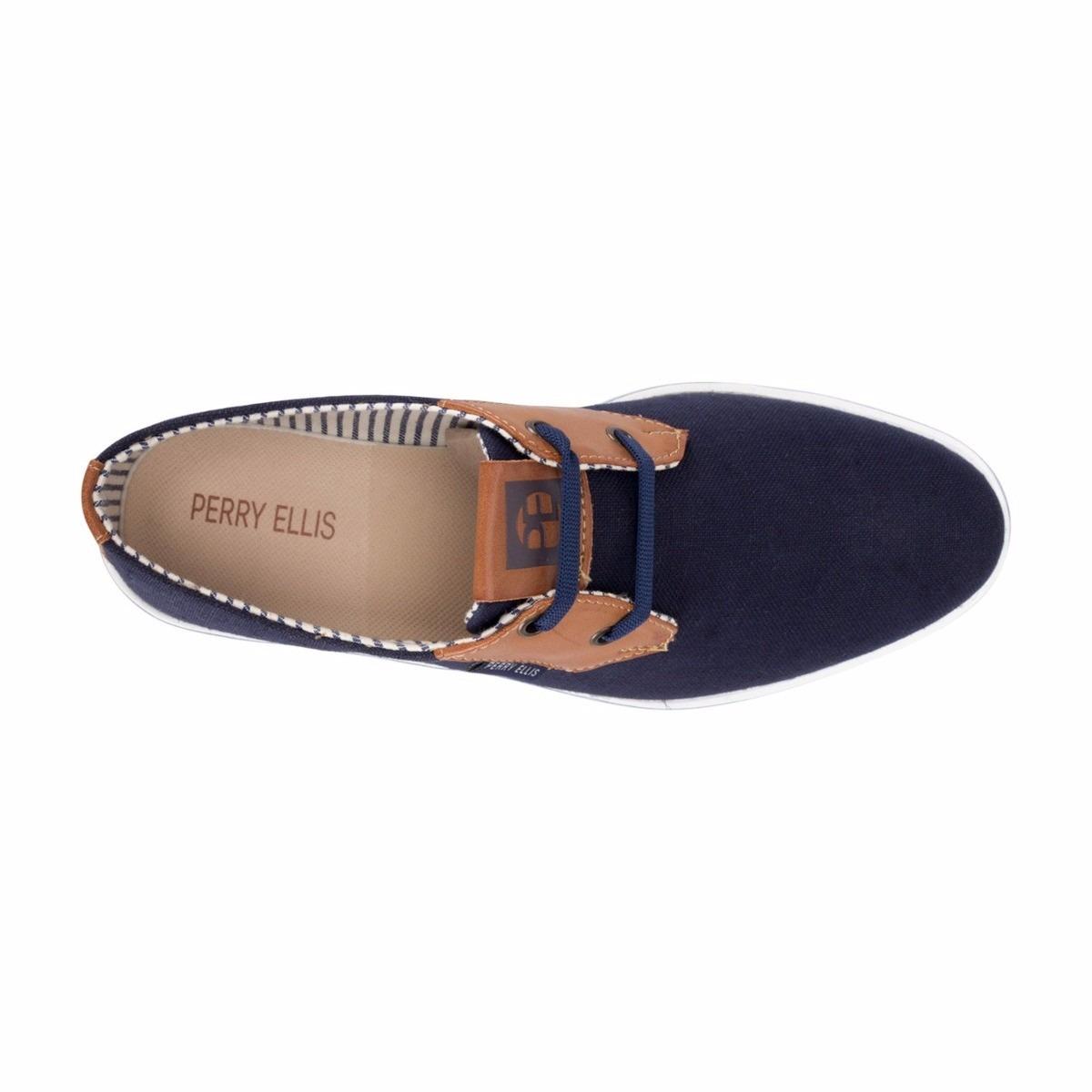 edc015b0a7a Zapato Perry Ellis 1453 Azul Cafe 2016 -   799.00 en Mercado Libre