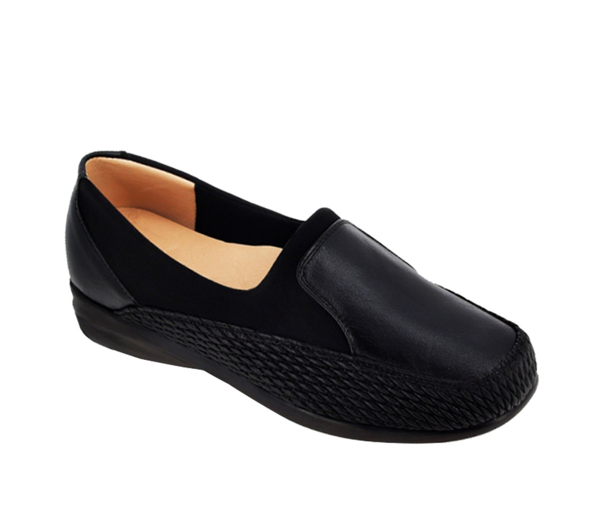 8821455b37a zapato piel addiction negro mujer 640 diabetico ortopedico. Cargando zoom.