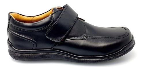 zapato piso escolar niño 5606 coloso negro