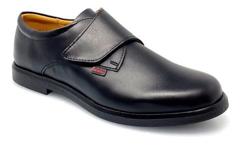 zapato piso escolar niño 5704 coloso negro
