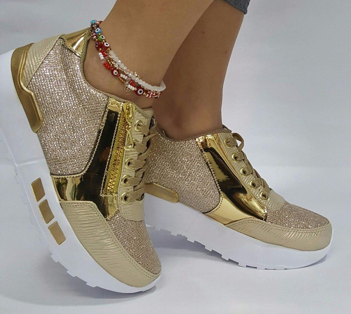 Plano Dorado 690 Dama Envío Gratis 71 Calzado Zapato Mujer Moda RqxwEdzg4