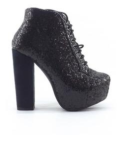 Nuevos Muaa Zapato Dama Mujer Brillos Alto Vindel Plataforma L4q5RjAc3