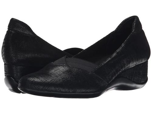 zapato plataforma mujer vaneli candee negro pla envío grati