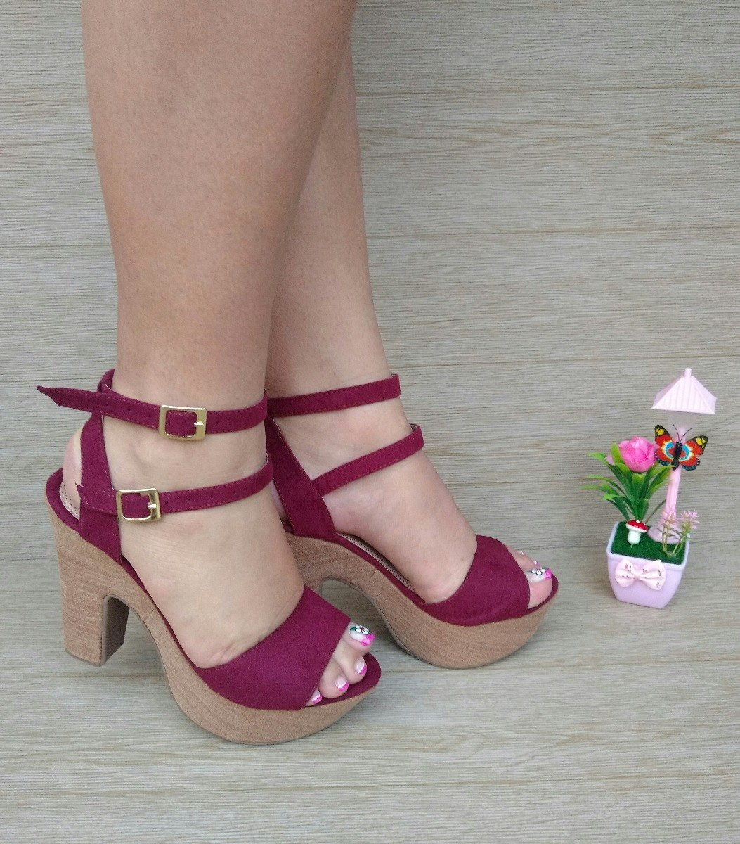 aa3818030 zapato plataforma tacón vinotinto de moda para mujer dama. Cargando zoom.