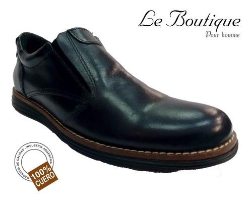 zapato pta redonda negro c/elastico  foot notes 150 hot sale