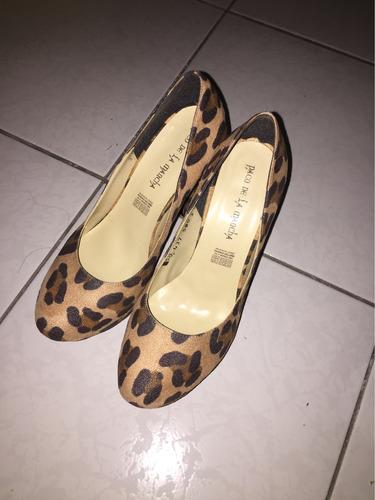 zapato pump animal print