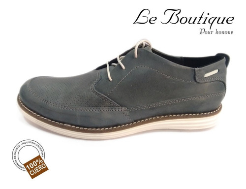 zapato punta redonda color gris foot notes 1100 hot sale