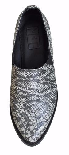 zapato puntal gris víbora de m+f