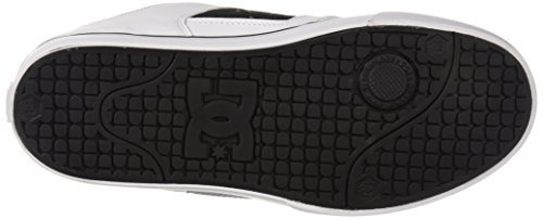 zapato pure skate dc para hombre, blanco / negro / blanco, 6