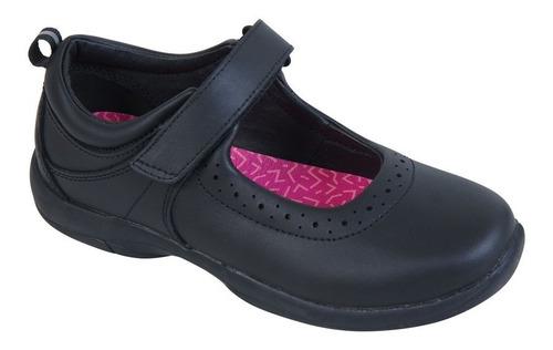 zapato reina negro velcro niña colloky garantía año escolar