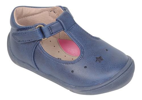 zapato reina vestir azul caña baja con hebilla niña colloky