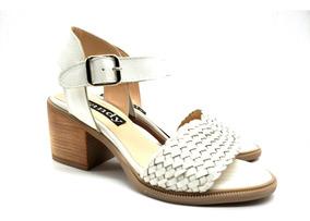 Cuero Zapato De Mujer Dama Sandalia Base Trenzado Taco Goma R43A5Lj