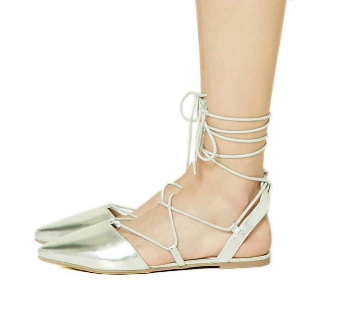 94ec119a1 zapato sandalia forever 21 romana 37 38 (7 8 usa) plateada · zapato sandalia  forever. Cargando zoom.