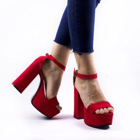 nuevo estilo d64b2 f2aec Zapato Sandalia Mujer Fiesta Taco Alto Plataforma