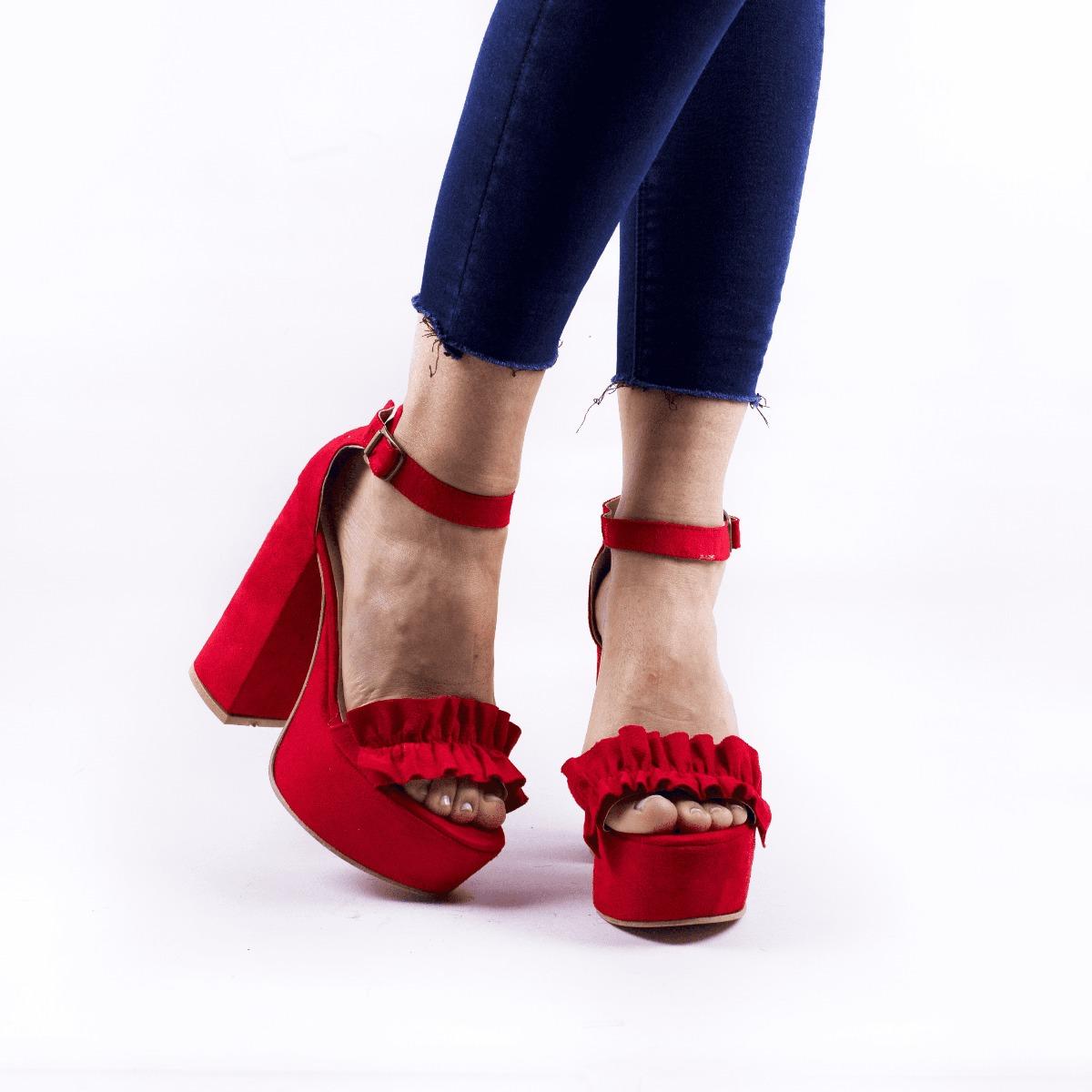 c4edeffe229 zapato sandalia mujer fiesta taco alto plataforma gamuza. Cargando zoom.