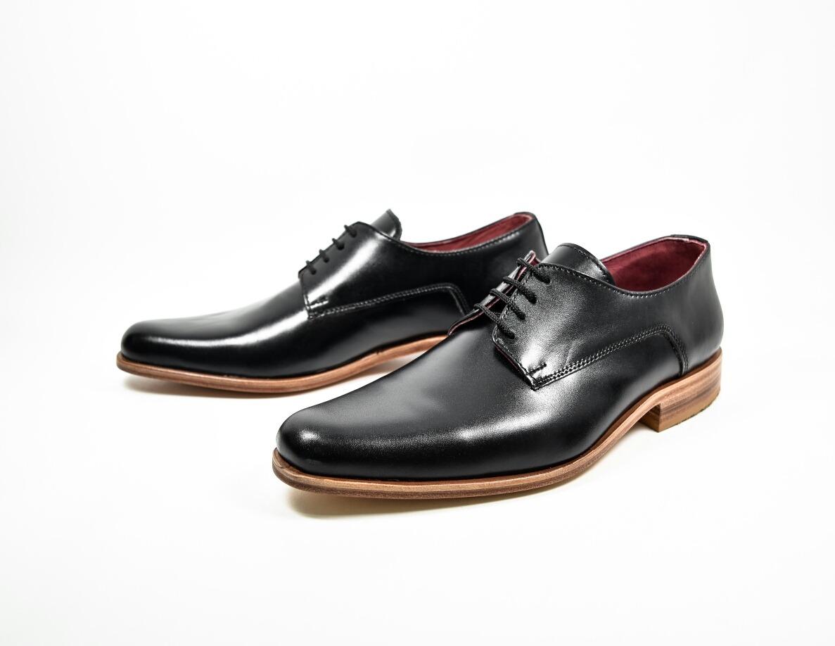 nueva llegada 5a6fb 89170 Zapato Scarpe Vestir Calzado Hombre Cuero Negro Art805