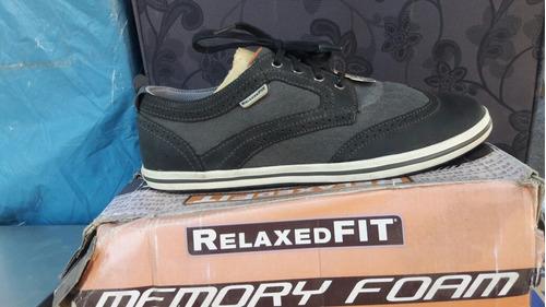 zapato skechers color negro-gris n° 42