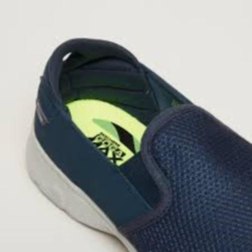 zapato skechers gowalk 4 - contain azul marino / gris hombre
