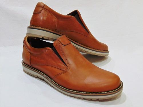 zapato sport base goma 100% cuero color suela foot notes 150