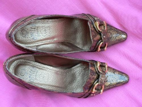 zapato stiletto mocasin nº 38 vestir fino import 713enanitos