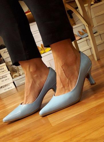 zapato stiletto mujer charol taco 6 negro nude tequilaonline