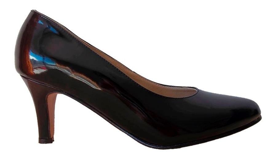 Zapato Clásico Stiletto Negro Negro Stiletto Zapato Charol Charol 6gf7vYby