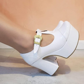 gran descuento zapatos genuinos vívido y de gran estilo Zapato Stilleto De Fiesta Taco Ancho Plataforma Moda 2019