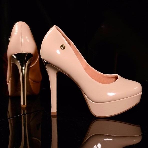 Zapato Taco Fino Color Nude De Charol -   2.950 50362e110868