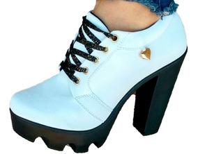 Bota Hermoso Dama Zapato Moda Plataforma Botin Tacon L354ARj