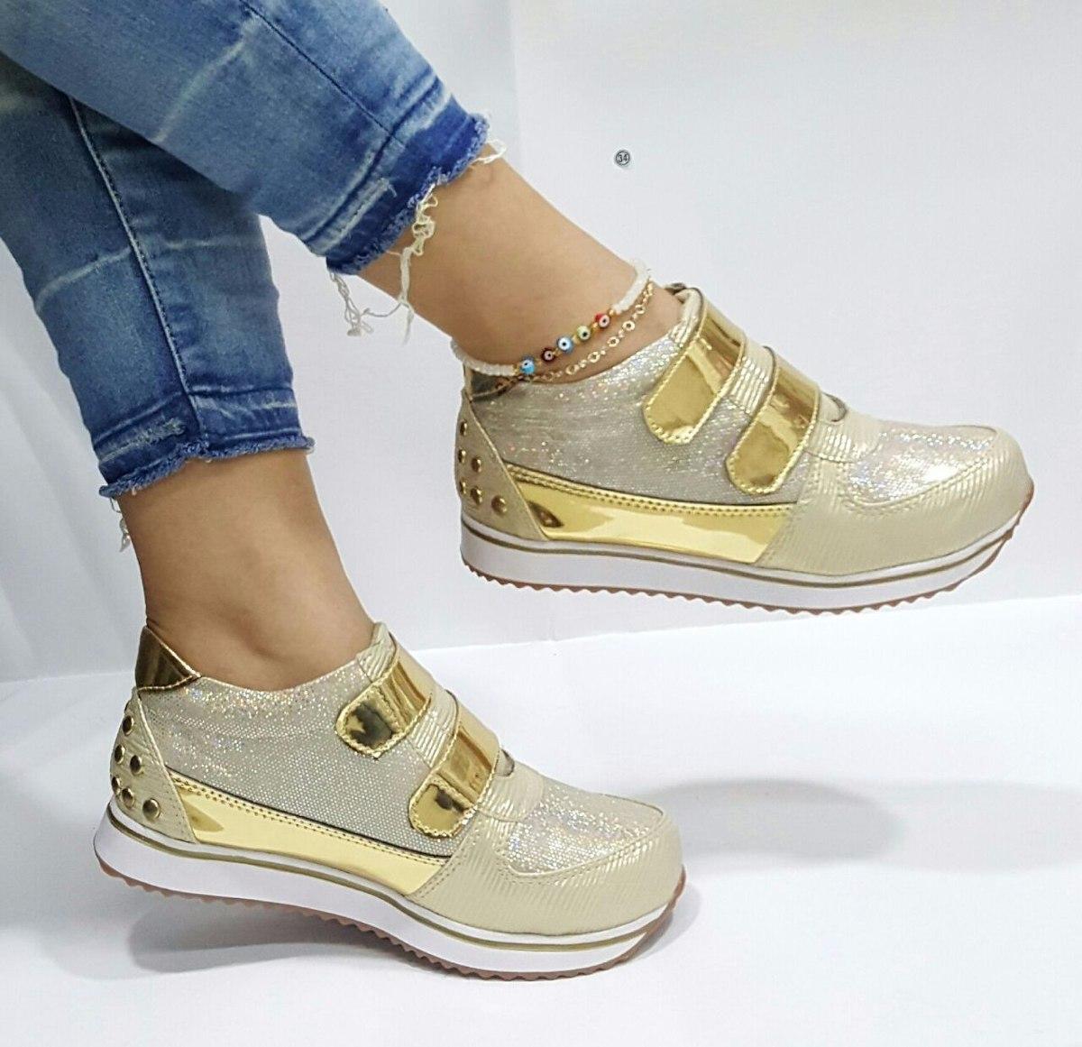 69587f93 Zapato Teni Calzado Dama Mujer Hecho Colombia Dorado - $ 56.000 en ...