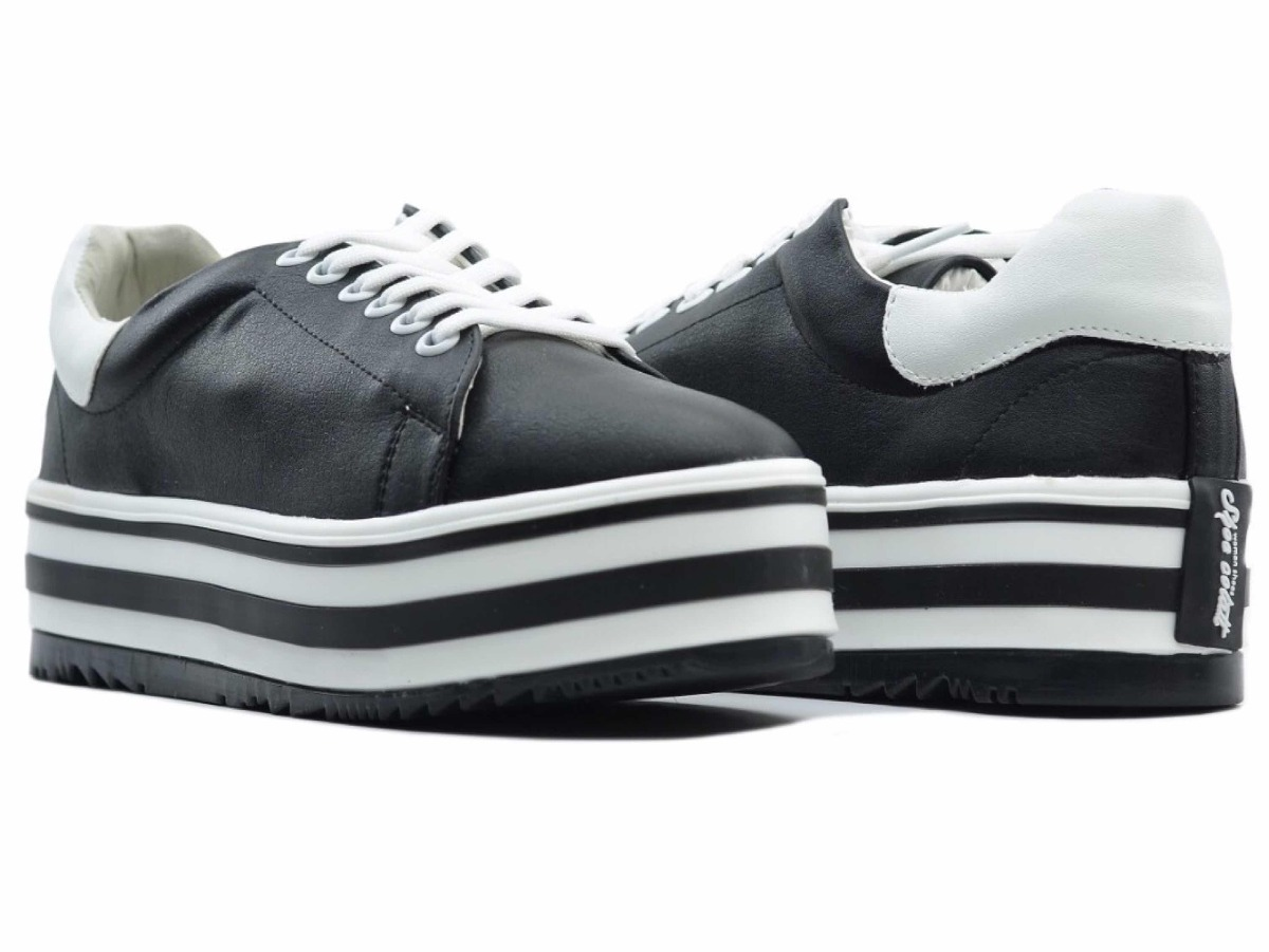a52d3b3d7fb Zapato Tenis Casual De Vestir Mujer Plataforma