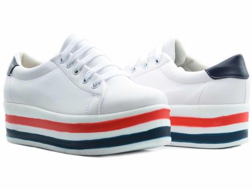 zapato tenis casual mujer plataforma | erez