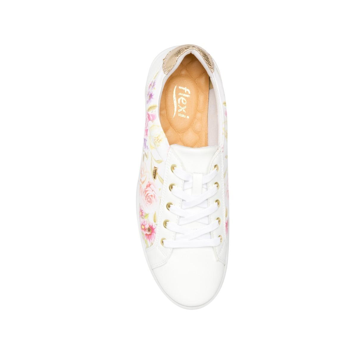 05699ba2 Zapato Tenis Flexi 33505 Negro Dorado Flores Flats - $ 729.00 en ...
