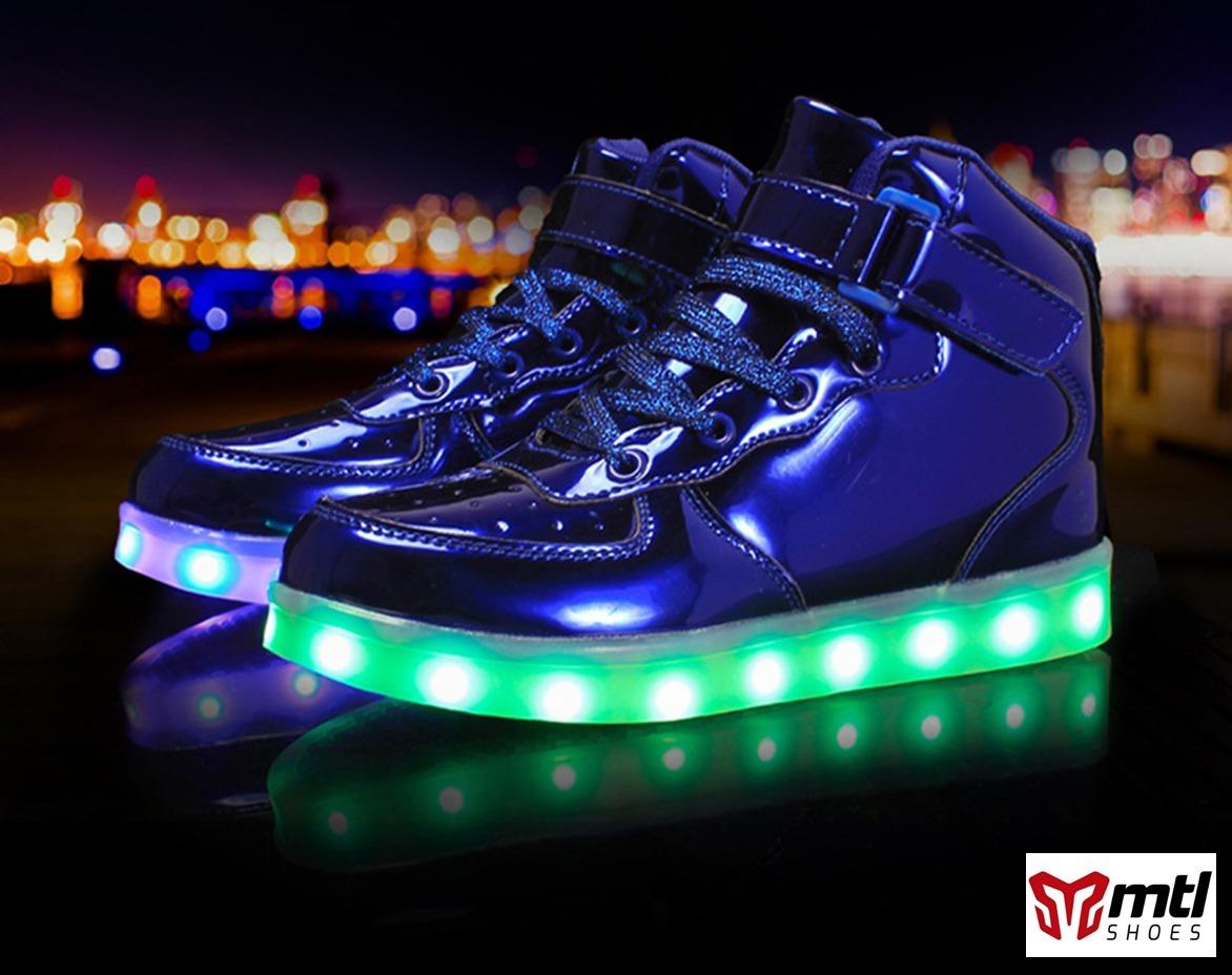Zapato Tenis Led (luces Luminosos) Con Control Remoto Impo