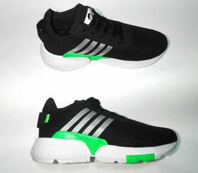 Zapato Tenis Running Hombre Mujer Negros Envio Gratis!!