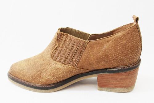 zapato texano cuero liso mujer art 42. marca san marino