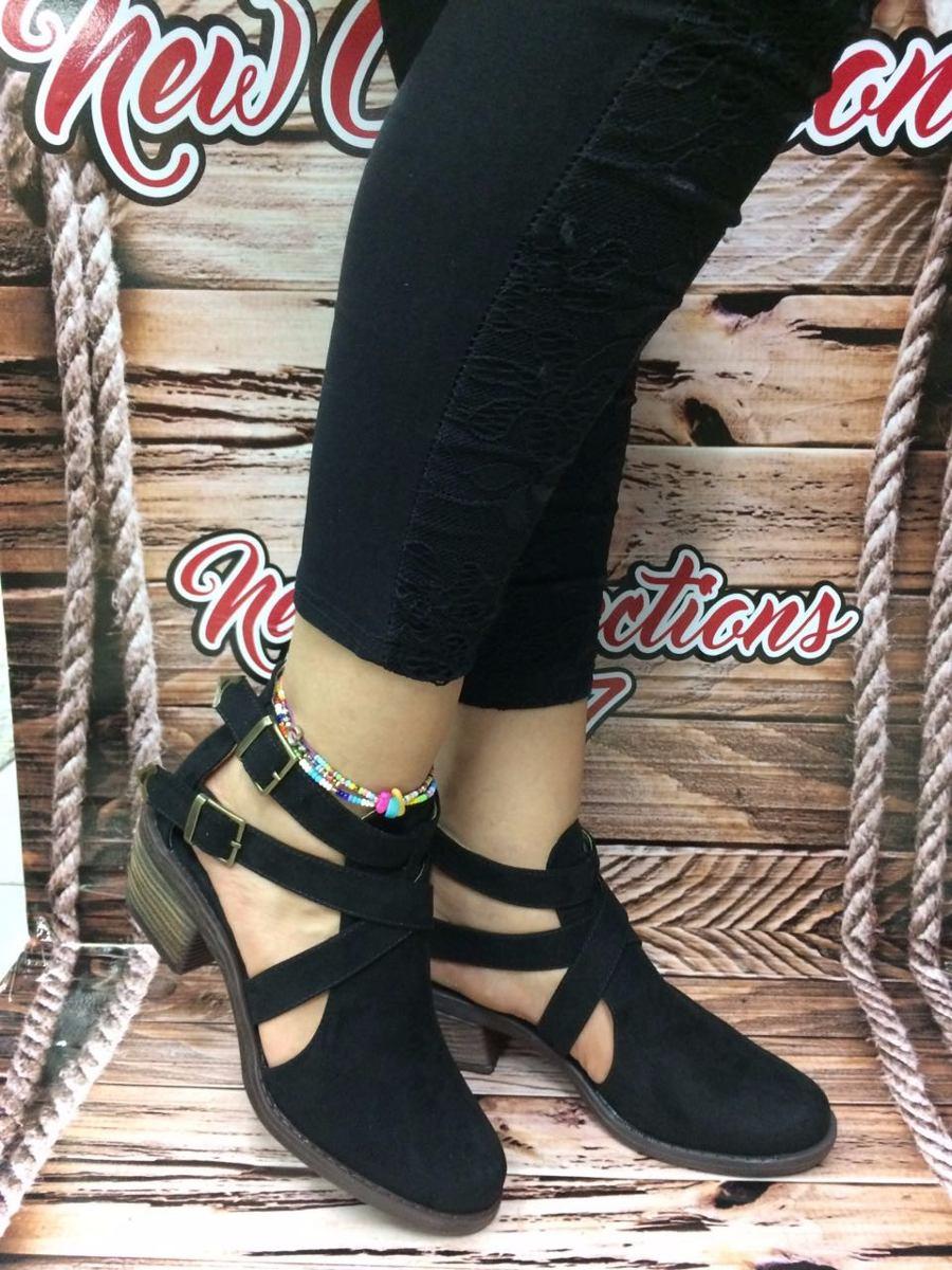 9e738348db zapato texanos negro moda mujer dama tacón bajito elegante. Cargando zoom.