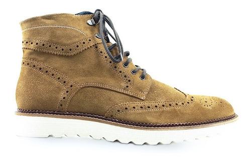 zapato tipo botín fino caballero chelsea piel gamuza nobuck