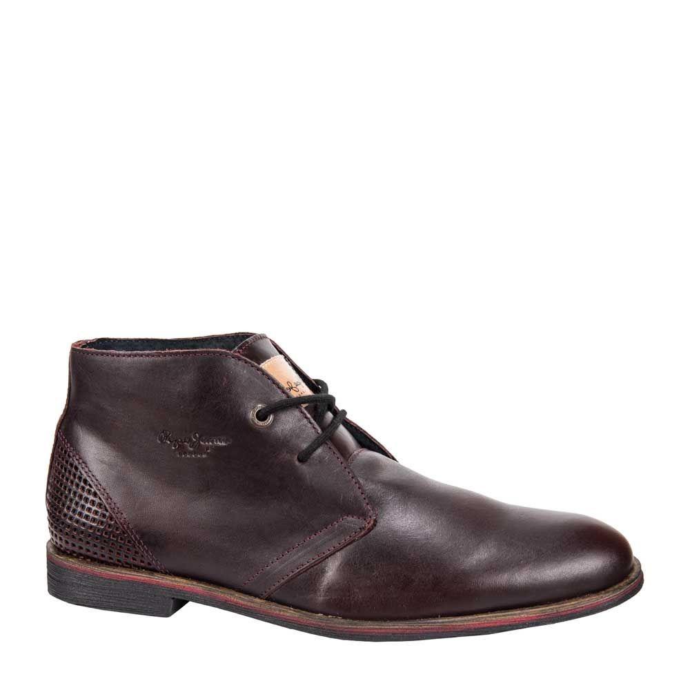 Cb41 Piel Pepe A Zapato Para Botin Vino Tipo Jeans Hombre nRxn0Aw8aq