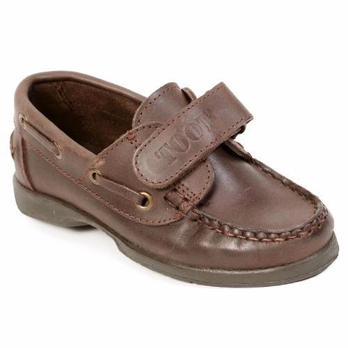 zapato toot náutico con abrojo cuero colegial  34 al 40