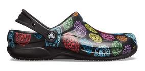 encontrar el precio más bajo encontrar mano de obra San Francisco Zapato Unisex Para Chef, Crocs Bistro Graphic Clog Calavera