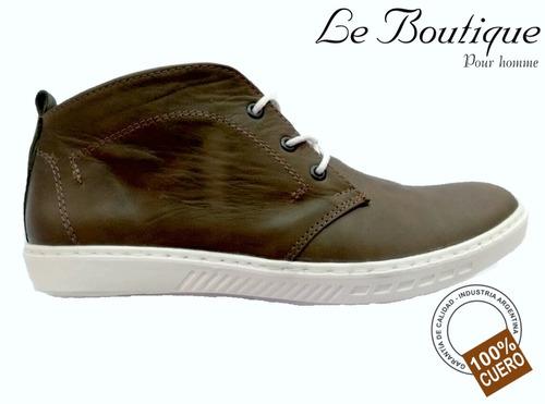 zapato urbano media caña foot notes  color musgo 1905