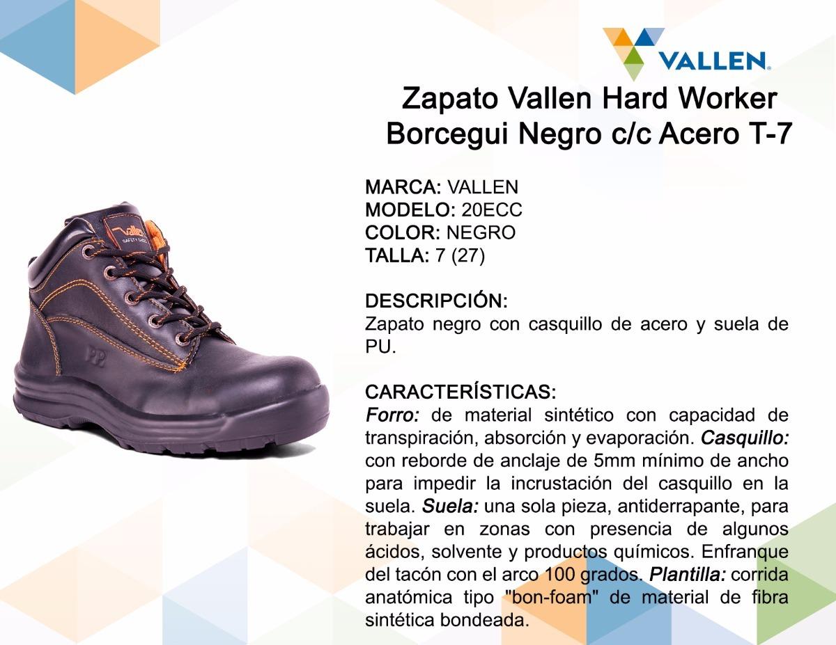 c100778b771d2 Zapato Vallen Hard Worker Borcegui Negro C c Acero T-7 -   423.14 en ...