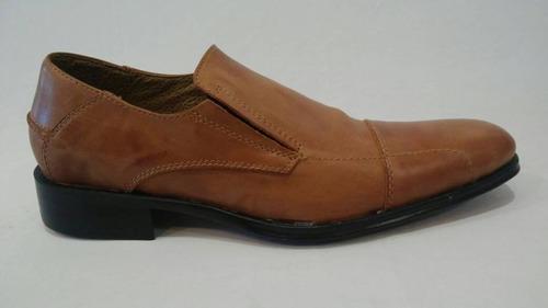 zapato vestir cuero con elástico art 6408. marca blood south