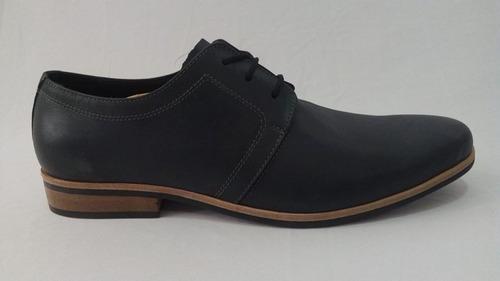 zapato vestir cuero hombre negro art 1017. marca messina