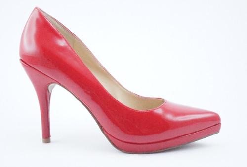 zapato vestir nine west rojo rubi