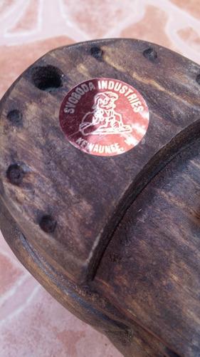 zapato viejo d madera musical svoboda industries 10 cms alto