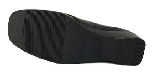zapato zapatilla capricho 17113 mujer piel charol negro