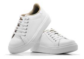 selección premium 4bd5f 2c957 Zapato Zapatilla Mujer Blanca Sneaker Urbana Plataforma Moda