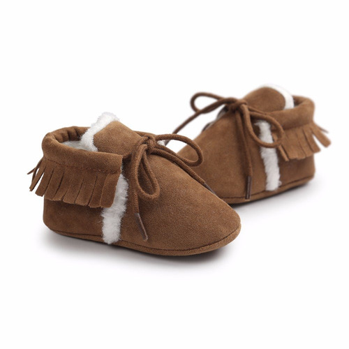 zapato zapatito tipo mocasin bebe niño niña de invierno